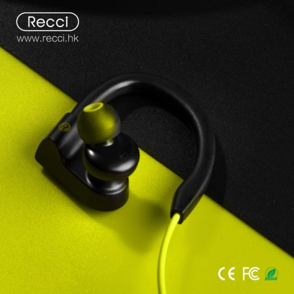 Recci hd sound in ear ear-hook bluetooth wireless earphone headphones headset